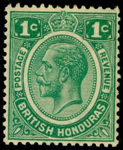 BRITISH HONDURAS SG126, 1c green, NH MINT. Cat £18.