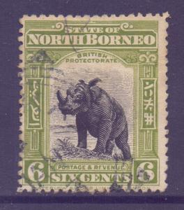 North Borneo Scott 142 - SG167, 1909 Rhinoceros 6c used