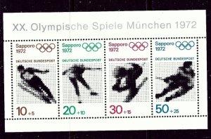 Germany B475a MNH 1971 Olympics    (ap4208)