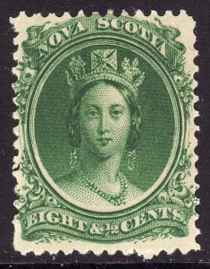 1860-63 Canada Nova Scotia Queen Victoria QV 8½¢ MMH Sc# 11a CV $15.00 Stk #3