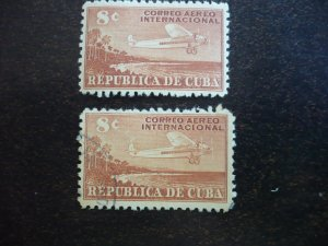 Stamps - Cuba - Scott# C40 - Mint Hinged & Used Single Airmail Stamp
