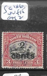NORTH BORNEO  (P0306B)  2C/3C  TRAIN SG 186  VFU  COPY 2