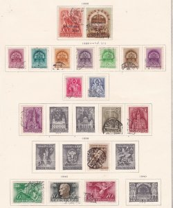HUNGARY ^^^^^^1938-40  mint &   used    collection  $$ @f9919xxbhg