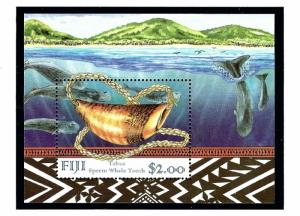 Fiji 824a MNH 1998 Whales S/S