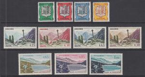 Andorra, French Sc 143-153 MNH. 1961 Pictorials, complete set, VF