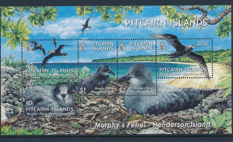 [35811] Pitcairn Islands 2004 Birds Vögel Oiseaux Ucelli   MNH Sheet
