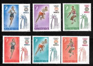 Grenada 280-285: Olympic Games 1968, Mexico City, MH, VF
