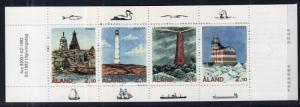 Aland 67a Lighthouses Booklet MNH VF