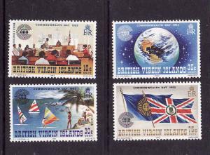 Virgin Is.-Sc#442-5-unused NH set-Commonwealth Days-Flags-1983-
