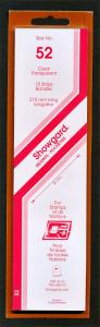 Showgard Stamp Mount Size 52/215 mm - CLEAR (Pack of 15) (52x215  52mm)  STRIP