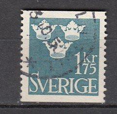 J26401  jlstamps 1948 sweden hv of set used #398, three crowns