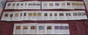 UN Human Rights Complete Set 1989-1993 MNH Inscription Blocks (all 3 offices)