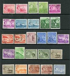 Mauritius SG293/306 Set of 15 plus shades Fine Used