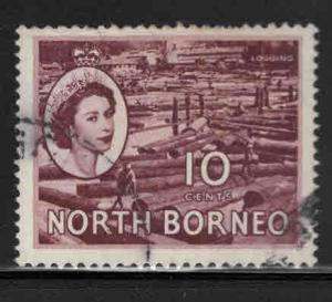 North Borneo Scott 267 Used QE2 stamp