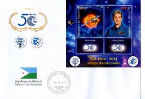 DJIBOUTI FDC SPACE COSMONAUTS ESA 12