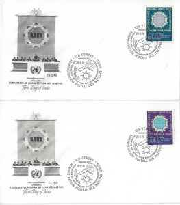 United Nations Geneva  59-60  FDC  Artmaster Human Settlements