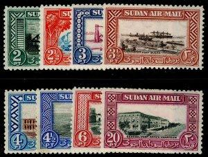 SUDAN SG115-122, COMPLETE SET, VLH MINT. Cat £26.