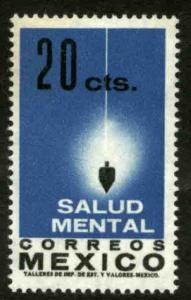 MEXICO 924, 20¢ Importance of Mental Health. MINT, NH. VF.