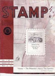 Stamps Weekly Magazine of Philately May 27, 1933 Stamp Collecting Magazine