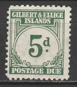 GILBERT & ELLICE ISLANDS 1940 POSTAGE DUE 5D
