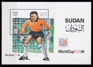 1995 Sudan 490/B4 1994 World championship on football of USA 6,00 €