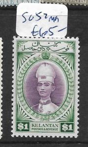 MALAYA KELANTAN (P0101B) $1.00  SG52  MOG