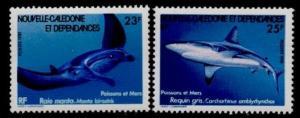 New Caledonia 460-1 MNH Shark, Manta Ray