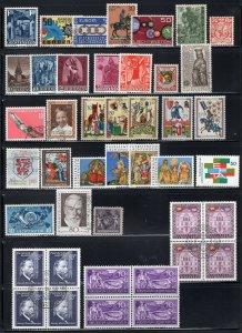Liechtenstein Lot Mostly Better Items Mint-MNH-Used Incl Europa Sheets CV$300+