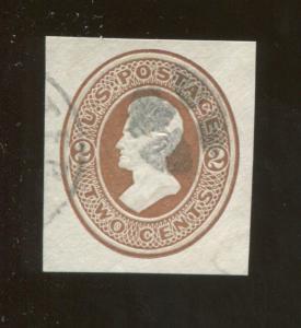 1870 United States of America Andrew Jackson 2c Postage Stamp #U78 CV $16
