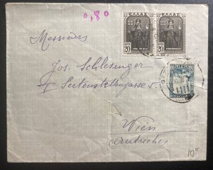 1930 Greece Commercial Cover To Vienna Austria