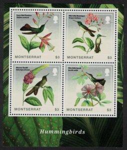 Montserrat Emerald Thornbill Hummingbirds MS 2014 MNH SG#MS1555