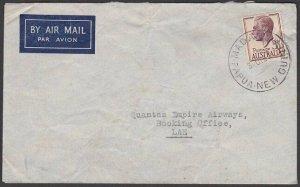 PAPUA NEW GUINEA 1952 cover Australia used in MADANG........................Q860