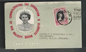 1953 Malaya Malacca Coronation England first day cover QE2 Queen Elizabeth II