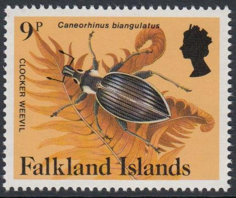 Falkland Islands - 1984 Insects and Spiders (9p) (MNH)