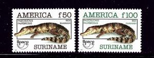 Surinam 957-58 MH 1993 Reptiles