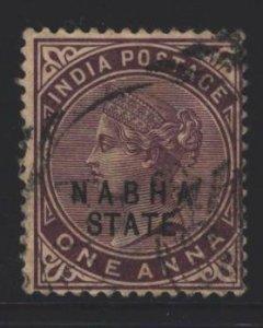 India Nabha Sc#13 Used - small thin