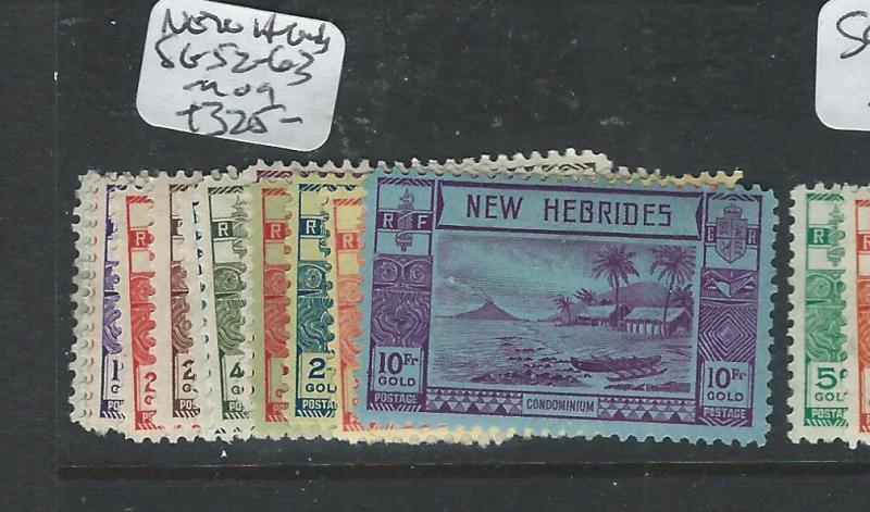 NEW HEBRIDES BRITISH  (P2407B) SG 52-63  MOG