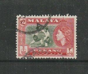 Malaya Penang 1957 $2 Used SG 53