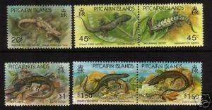 PITCAIRN IS 1993 LIZARDS    SET 6 MNH