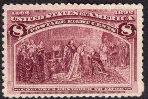 US Stamp Scott #236 Mint Never Hinged SCV $140