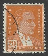 Turkey #738 Used Single Stamp