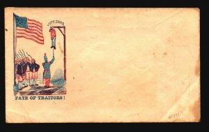 US Civil War Fate Of Traitors Patroitic Cover Unused / Few Creases - Z18661