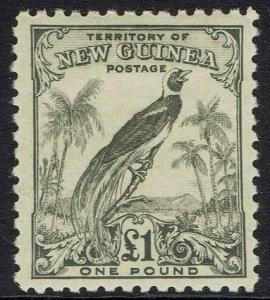 NEW GUINEA 1932 UNDATED BIRD 1 POUND