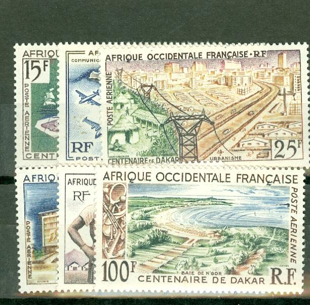 French West Africa C22-7 mint CV $16.15