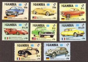 Gambia #620-27 MNH cars cpl