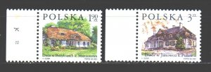Poland. 2001. 3881-82. Architecture. MNH.
