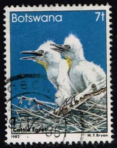 Botswana #309 Cattle Egrets; Used (0.25)