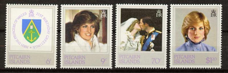 Pitcairn Islands 213-6 MNH Princess Diana 21st Birthday, Crest