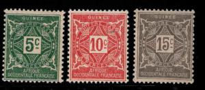 FRENCH GUINEA Scott J16-18 MH* Postage due stamps