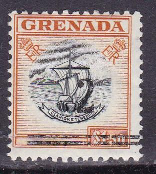 Grenada 1965 Scott 182 Overprinted 2 & Bars for Revenue Use. See Note in Scott